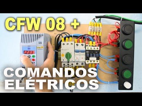 CFW 08 - Inversor de Frequência + Comandos elétricos em Umidificador