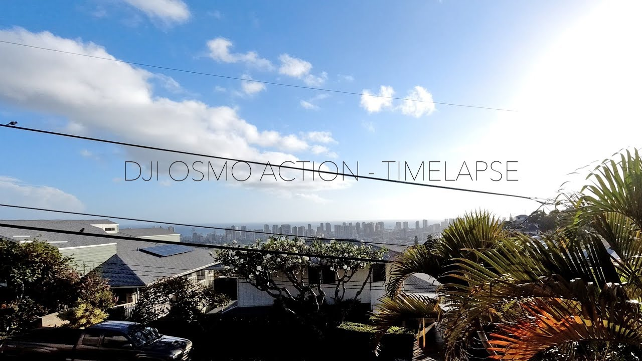 DJI Osmo Action - Honolulu Sunset Timelapse 2019 (Raw Footage 2.7K)
