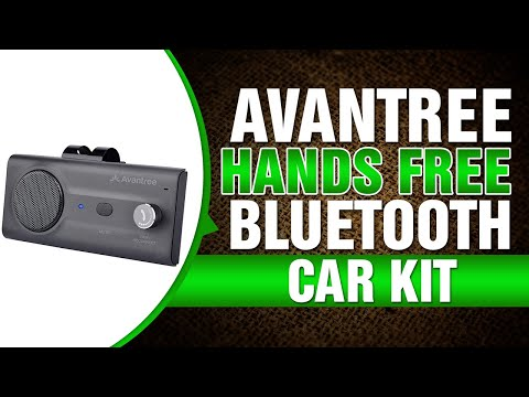 Avantree Hands Free Bluetooth for Cell Phone Car Kit Loud Speakerphone Device, Siri Google Assistant