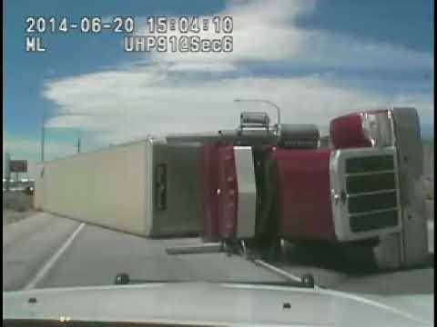 Cattle Truck Crash Caught on Video