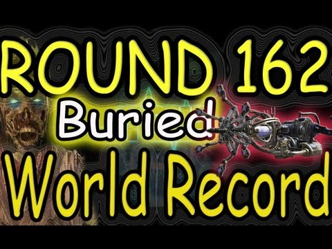 """""""Buried"""" 162 Rounds """"New Buried World Record"""" Black Ops 2 Zombies Gameplay!"""