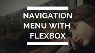 Navigation Bar with Flexbox with hover animation   Navbar with Flexbox