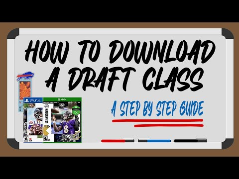 How to Download a Draft Class in Madden 21 || A Step by Step Guide