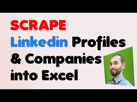 Extract Linkedin Search Results Data To Excel -  Profile And Companies