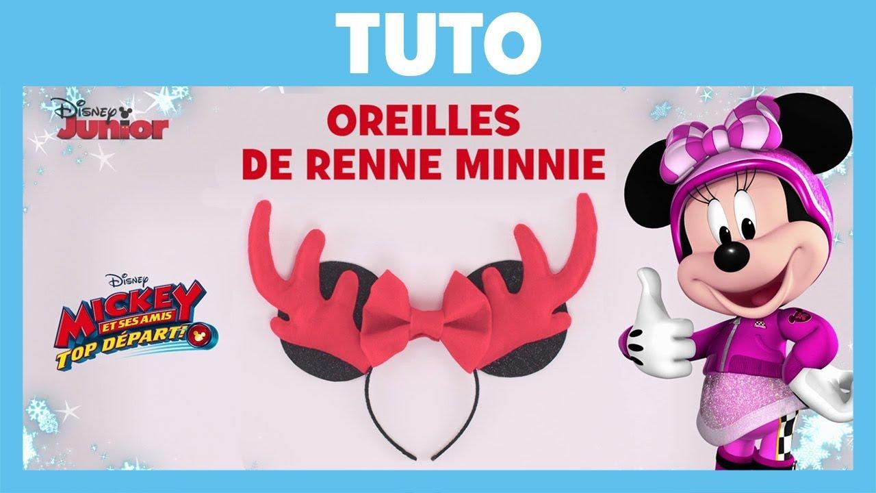 Mickey et ses amis Top départ ! - Tuto Noël : Oreilles de renne ...
