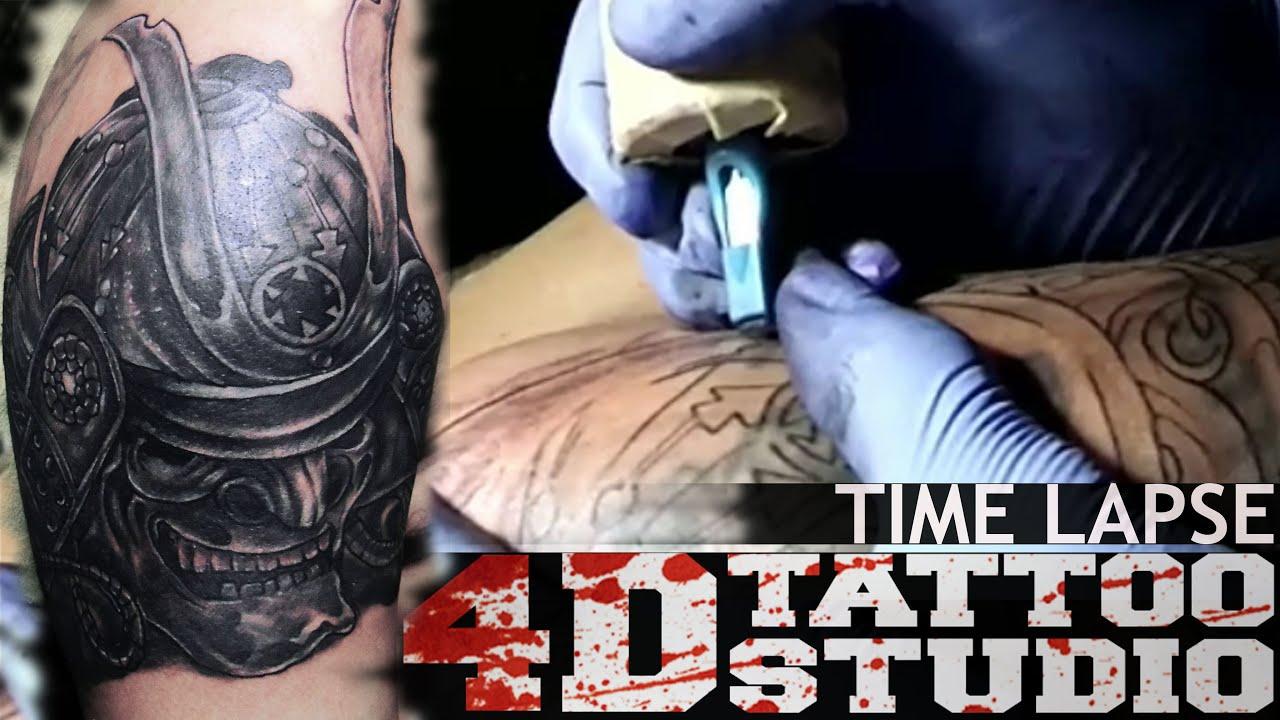 Tattoo Time Lapse Cover Up Samurai Mask Ocp Adam 4d Tattoo