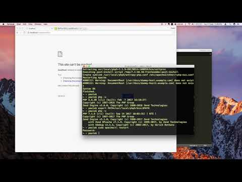 How To Install/Update To PHP7 On MacOS Sierra Via Curl