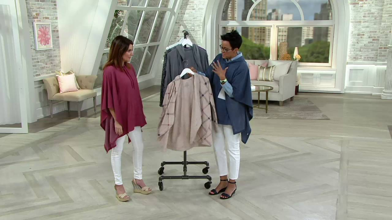 cuddl duds comfortwear lounge heathered hoodie wrap on qvc