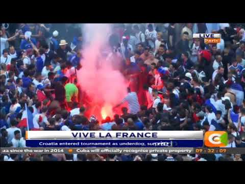 Team France celebrations in Paris #FeelTheBarn