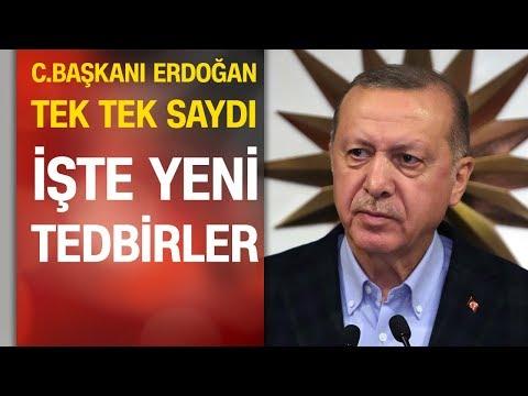 Cumhurbaşkanı Erdoğan Yeni Tedbirleri Açıkladı: Şehirler Arası Seyahate Valilik Izni | 27.03.2020