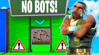 NO BOTS ALLOWED DEATHRUN!! (Fortnite Creative Mode)