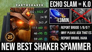 WTF 1 Echo Slam DELETED Brood - NEW Carry Mid Earthshaker Spammer 13Min Scepter Godlike & Zero Death