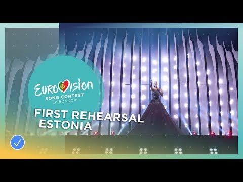 Elina Nechayeva - La Forza - First Rehearsal - Estonia - Eurovision 2018