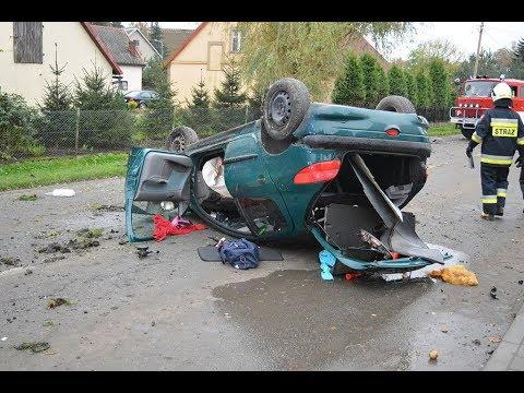 """Marynowy: Dachowanie. """"Samochód leciał w powietrzu"""". – 22.10.2017"""