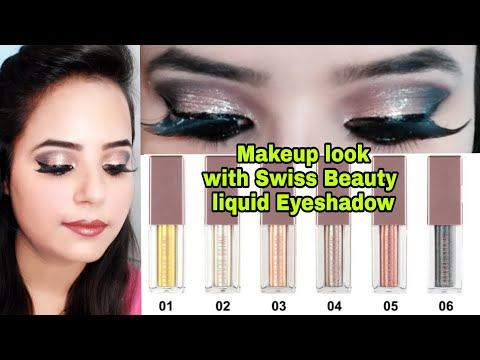 Swiss beauty liquid highlighters Review || Full Eye makeup || Stay beautiful with SHAVI