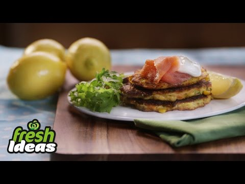 Carrot And Zucchini Fritter Recipe With Smoked Salmon And Tzatziki - Woolworths Fresh Ideas