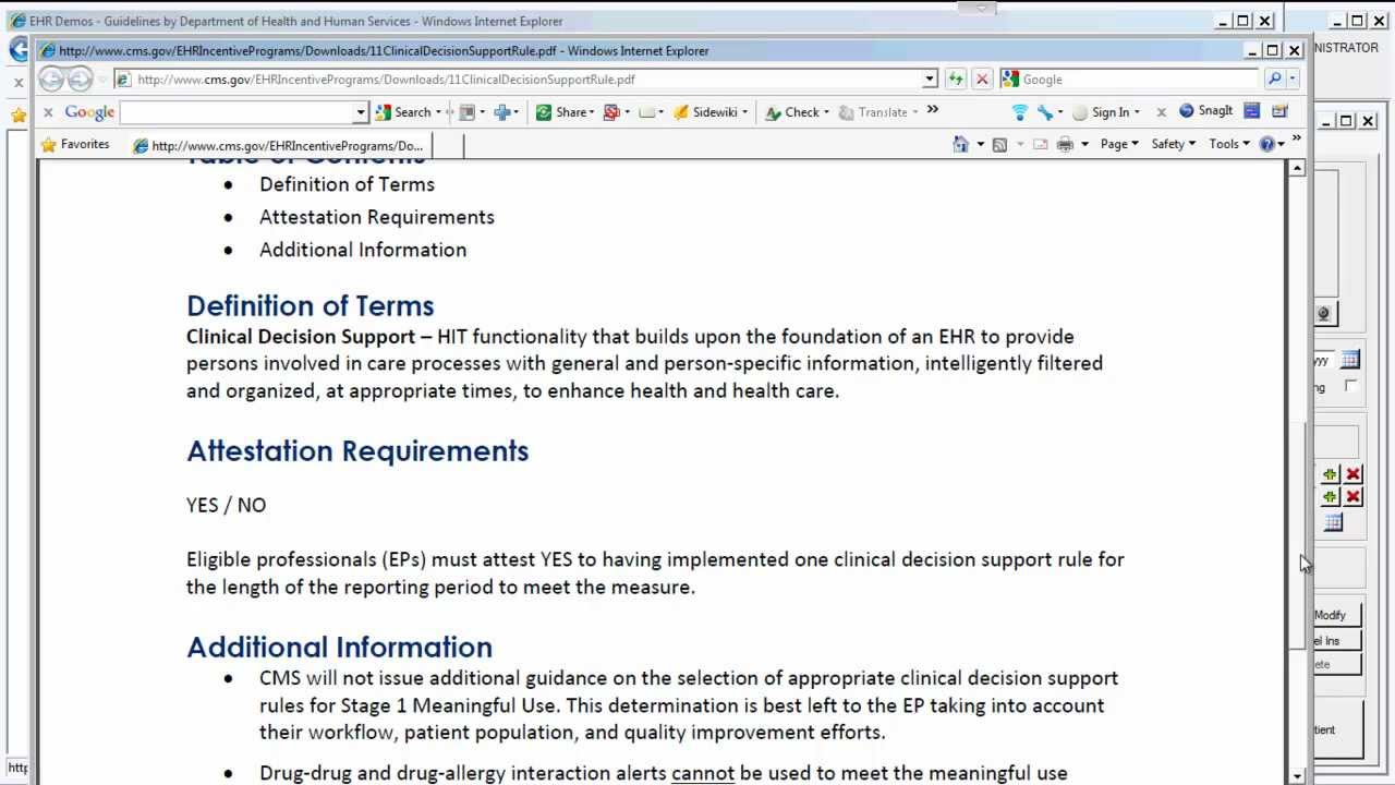 Meaningful Use Core Measures # 11: Clinical Decision Support - YouTube