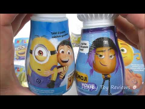 2017 McDONALD'S THE EMOJI MOVIE HAPPY MEAL TOYS VS DESPICABLE ME 3 FOOD PRODUCTS FULL SET COLLECTION