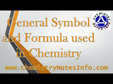 General Symbol and Formula used in Chemistry