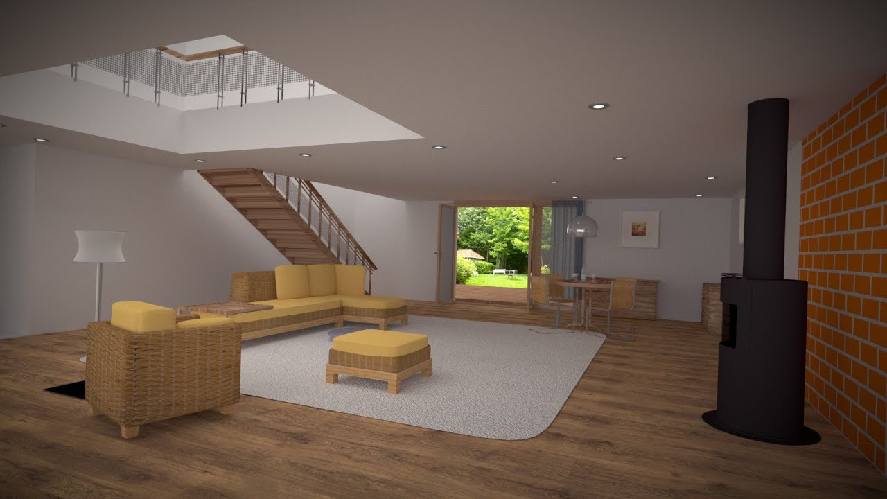Blender tutorial fr mod lisation de l 39 int rieur de maison by profiz youtube for Interieur de maison