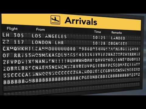 Airport Split Flap Board Arrivals with After Effects. Download free Template -  subscribe me!
