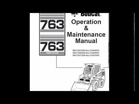 Bobcat 763 SkidSteer Loader Service Manual