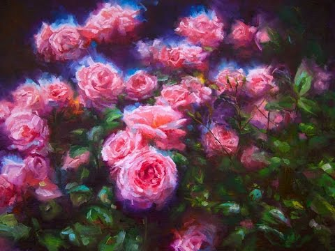 Youtube How To Paint Roses In Oil