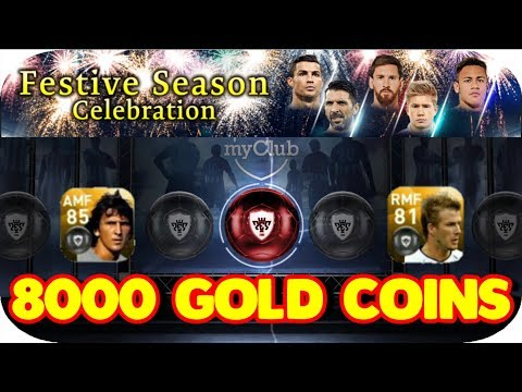 FESTIVE SEASON BOX DRAW 32 TIMES (8000 Gold Coins Spree) in PES 2018 MOBILE | GIVEAWAY | Part 1
