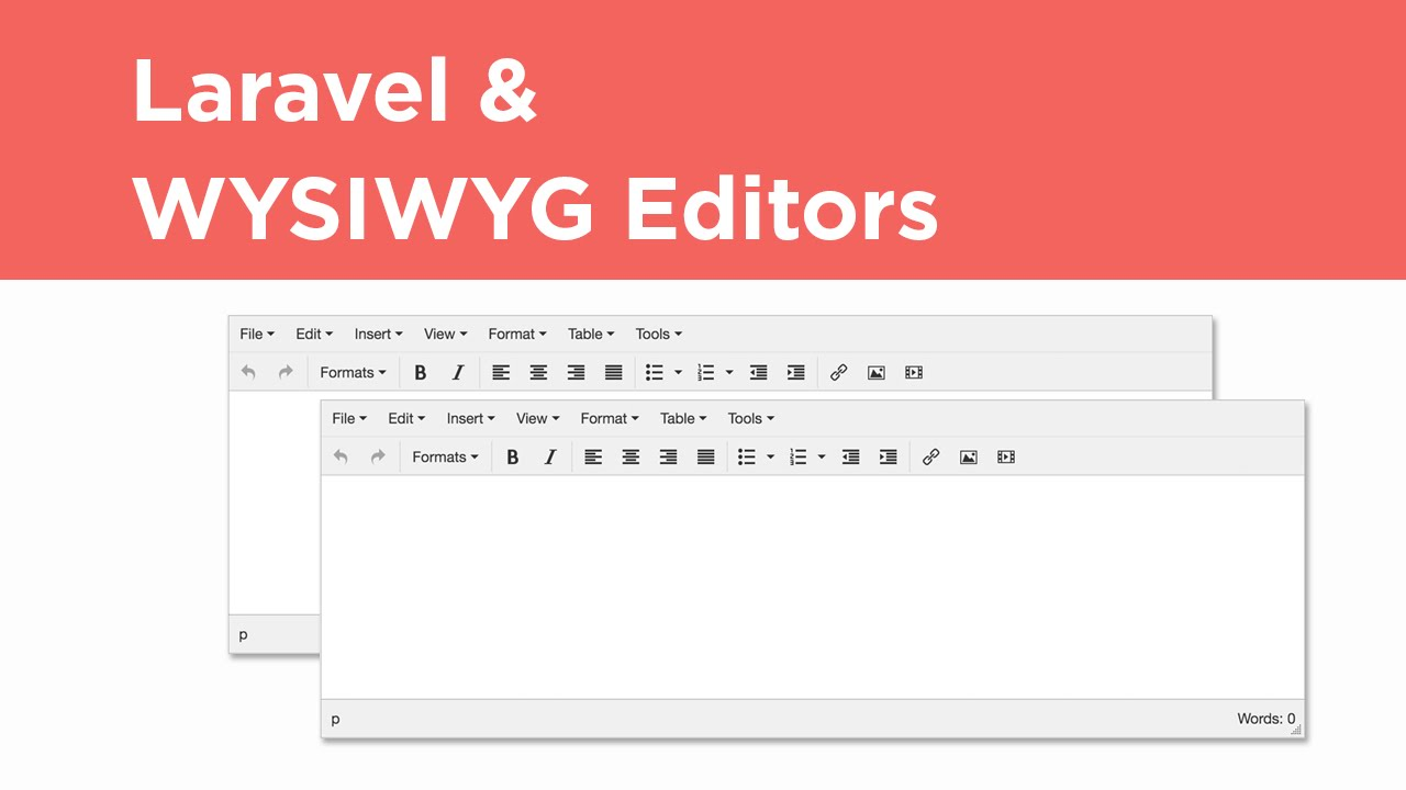 Laravel Tutorial - WYSIWYG Editor Integration (TinyMCE)