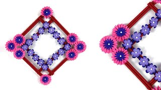 Beautiful Paper Flower Wall Hanging / Wall Hanging Decoration Ideas