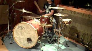 Test Driving the side snare BoLo custom drums