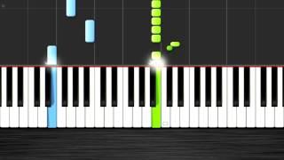 Skyrim Theme - EASY Piano Tutorial 50% Speed - Synthesia