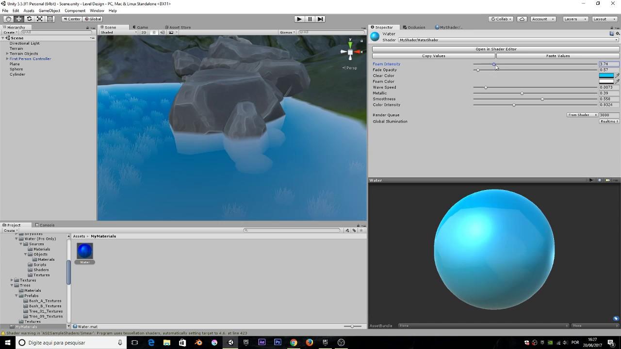 (Toon Water) Primeiro shader com Amplify Shader Editor - Unity 5 5