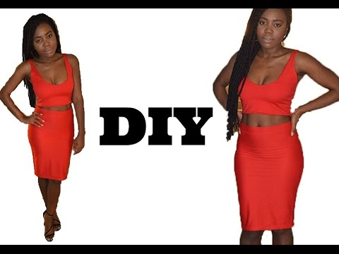 how-to-make-a-two-piece-bodycon-dress-(-easy-sewing)