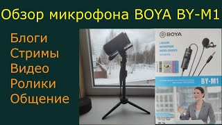 Обзор микрофона BOYA BY M1 для стримов, блогов, видео, общения с телефона и камеры. Тест звука