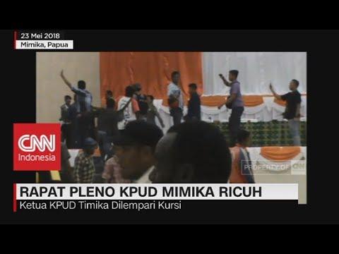 Rapat Pleno Ricuh, Ketua KPUD Mimika Dilempari Kursi