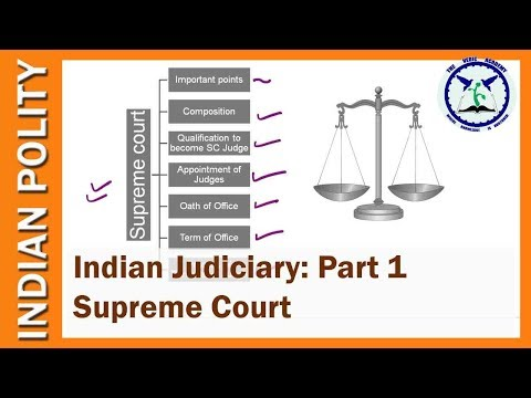 Indian Judiciary: Supreme Court of India   Indian Polity   SSC CGL   UPSC   by TVA