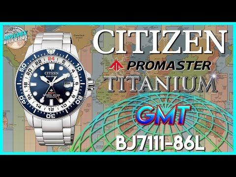 New Citizen GMT! | Citizen Promaster Titanium 200m Solar GMT Diver BJ7111-86L Unbox & Review