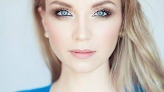 видео вечерний макияж для голубых глаз