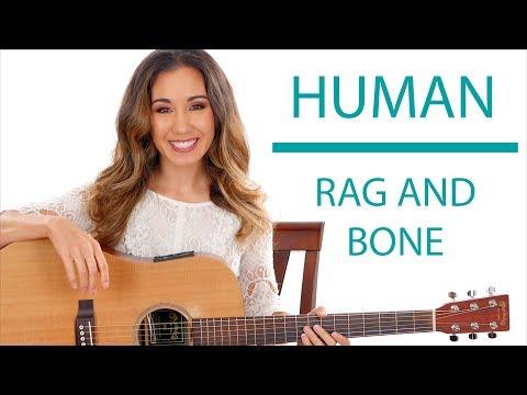 Human by Rag'n'Bone Man - Guitar Tutorial with Play Along