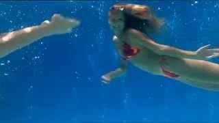 Sexy Bikini Girls Swimming Underwater Part.4 Great, Having On The TV Screen Instead Of Burning Logs.