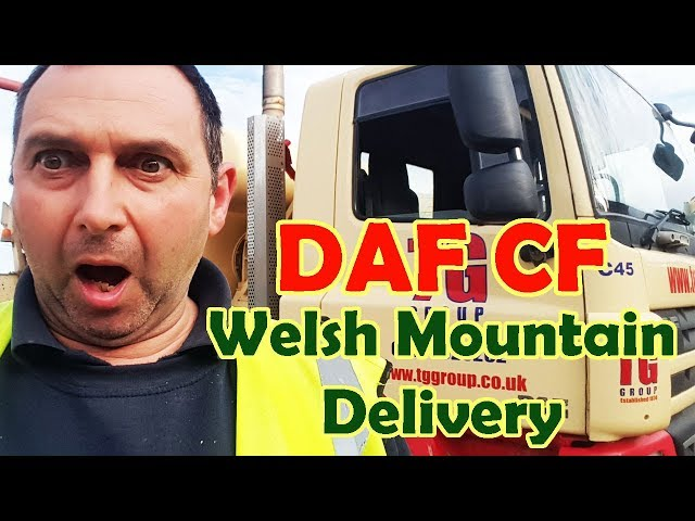 DAF CF Welsh Mountain Truck Delivery Butt Clenching moments as road narrows !