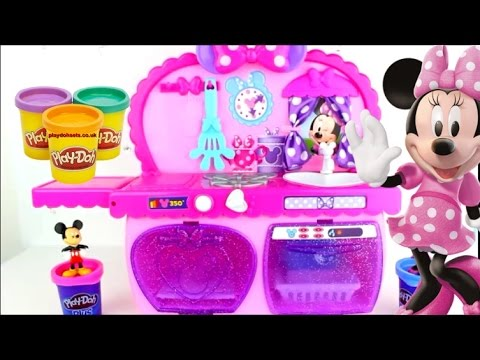 jouets cuisine de minnie mouse kitchen cupcake g teau pates repas pate a modeler playdoh youtube. Black Bedroom Furniture Sets. Home Design Ideas