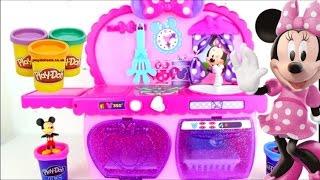 Jouets cuisine de Minnie mouse kitchen cupcake gâteau pates repas pate a modeler playdoh