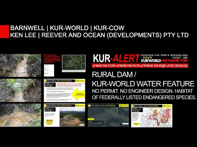 KUR-WORLD, KUR-COW, BARNWELL - Endangered species habitat destroyed by unpermitted dam earthworks