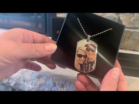 Custom Father's Day Gift Ideas - SS Dog Tag & Laser Engraved Photo Keychain Review