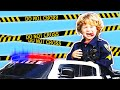 Kids Police Car Videos about SideWalk Patrol Giving Parking Tickets