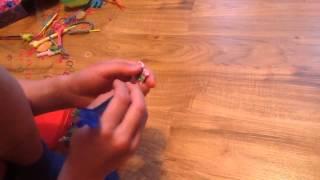 плетение браслета из резинок. стиль французская коса. урок 2