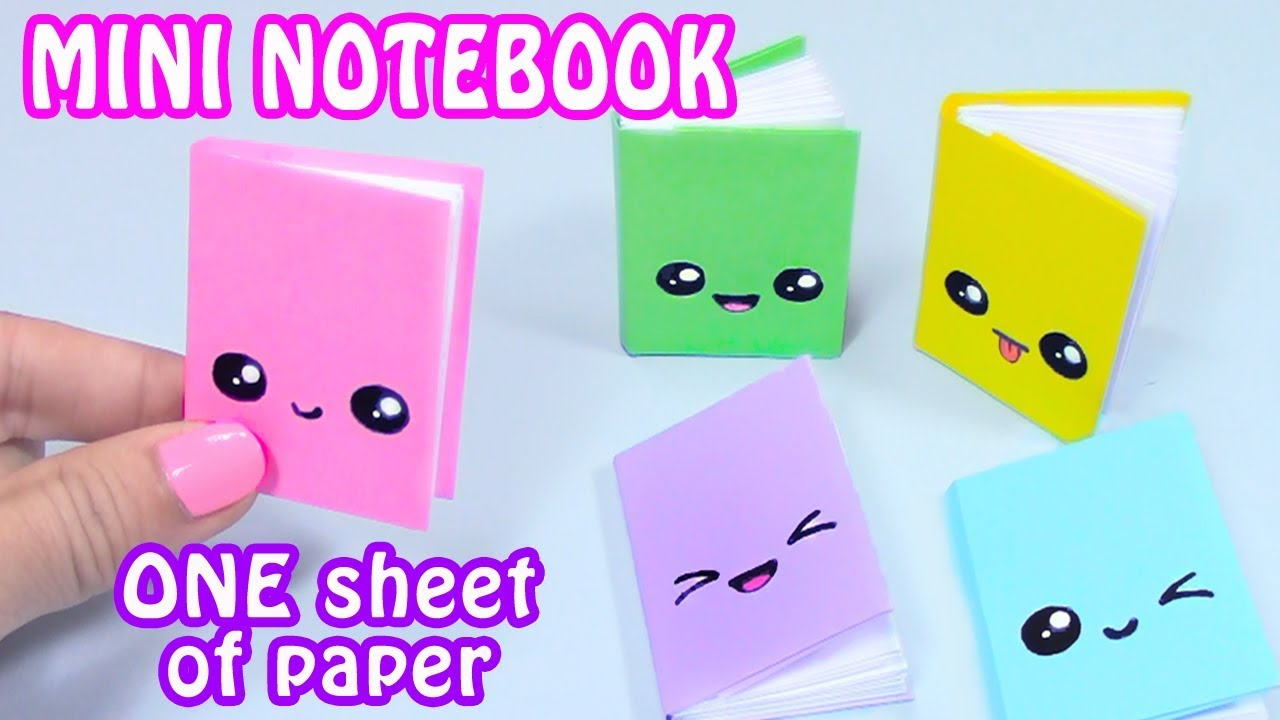 diy mini notebooks one sheet of paper diy back to school youtube