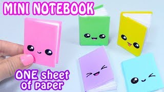 DIY MINI NOTEBOOKS ONE SHEET OF PAPER - DIY BACK TO SCHOOL